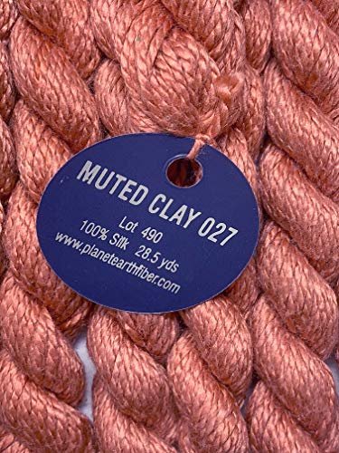 Planet Earth FIBER-SILK-COLOR-027-MUTED Clay-This Listing is for 2 SKEINS