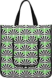 Petunia Pickle Bottom Shopper Tote in Playful Palm Springs, Green