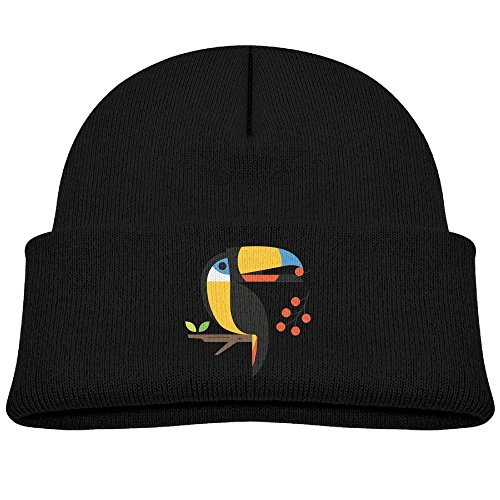 Children's 4 Colors Knitting Caps Funny Winter colorful Polygonal Graceful Toucan Fruit (Toucan Beak Costume)