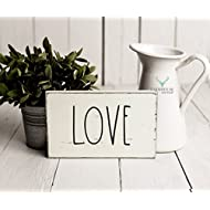 Rustic Love Sign   Rustic Wood Sign   Farmhouse Sign   Inspired Rae Dunn Sign   Rustic Home Decor   Farmhouse Home Decor   French Farmhouse Decor   Shabby Chic Decor   Primitive Decor