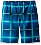 Under Armour Boys' Big Volley Fashion Swim Trunk, Green/Blue X-Large