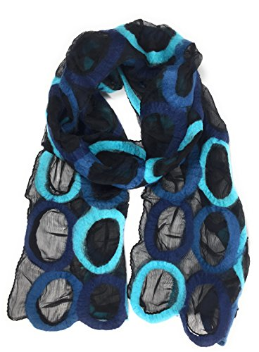 Blue Silk Long Scarf - 8