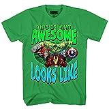 Marvel Big Boys' Hulk T-Shirt, Kelly Green, M