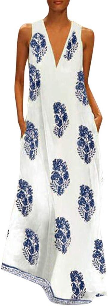UK Summer Womens Holiday Plus Size Ethnic Vest Dress Casual Loose Mini Sundress