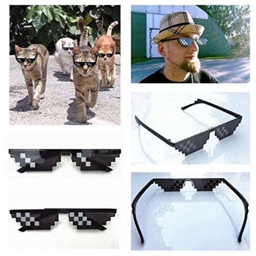 8 et Pour Eyewear Lunettes Sunenjoy Unisexe Femme Lunettes It Soleil soleil de Life Drôles Bit Cool Deal Mosaïque de With Pixel Homme A Thug Mode 4qcw8Cxfq