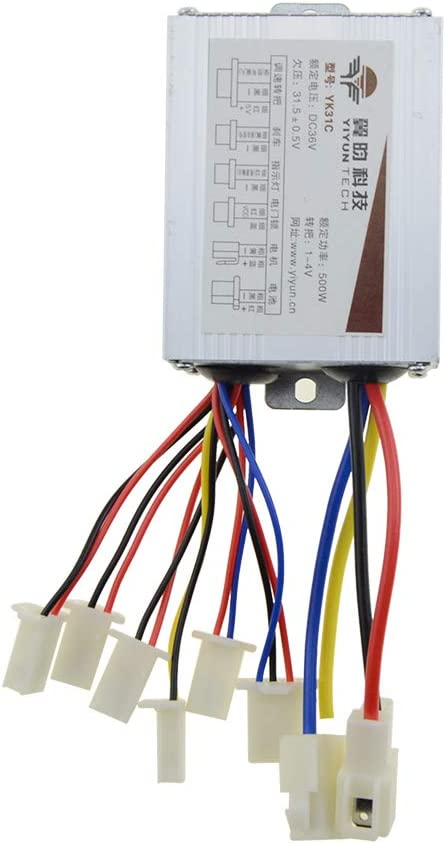 WOOSTAR Motorcycle Speed Controller with Black Battery Connector Terminal-48v 1000w-for Scooter,Brushed Electric Motor Engine