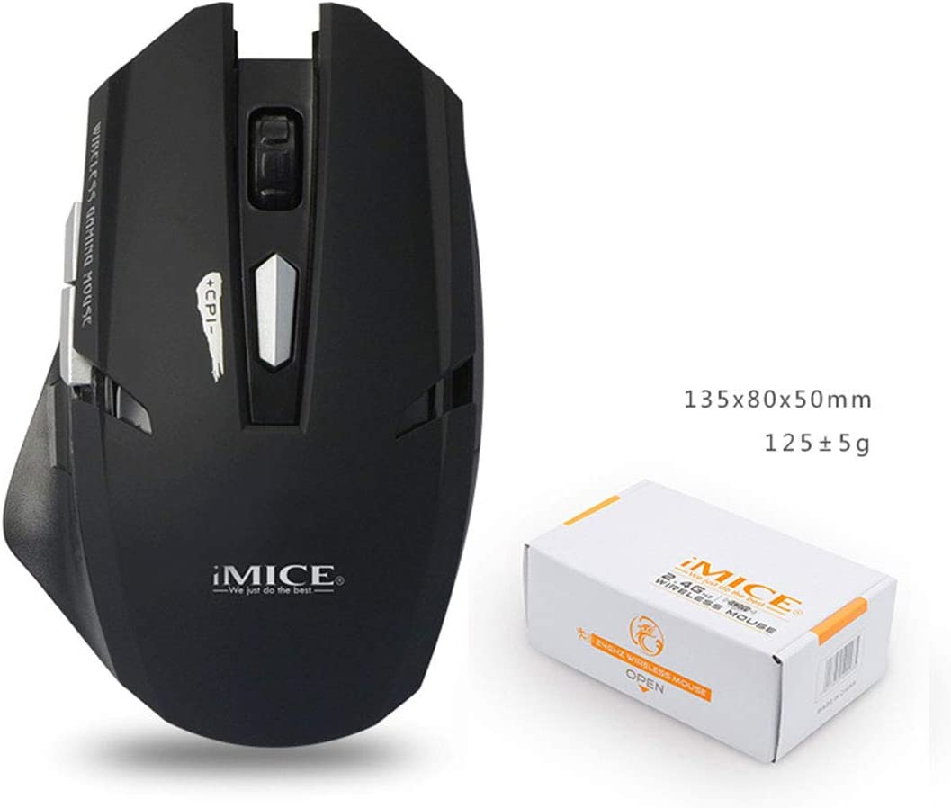 Color : Elegant Black+Exclusive Color Box Hexiaoyi for 2.4G Wireless Mouse with Receiver Noiseless and Silent Click with 1600 DPI for PC Laptop Tablet Computer and Mac