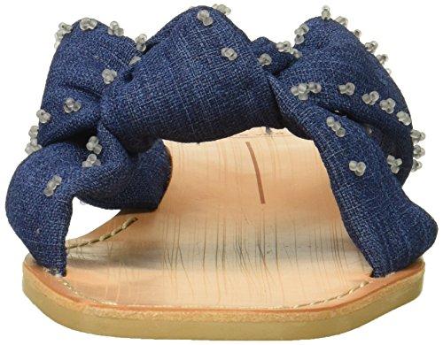 Dolce Vita Women's Haviva Slide Sandal Indigo Linen tGL5rm