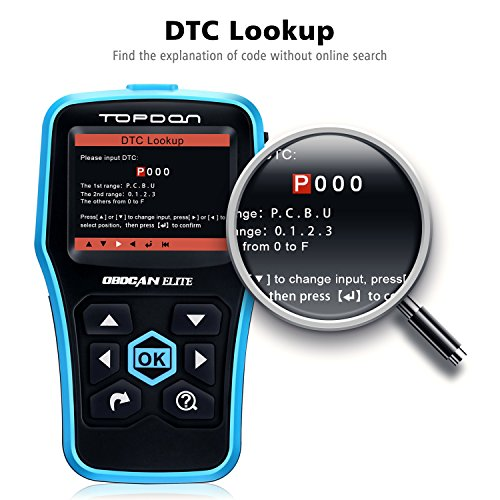 TOPDON Elite OBD2 Scanner, ABS SRS Diagnostic Tool Car Engine Fault Code Reader CAN Diagnostic Scan Tool, Universal Check Engine Light Automotive OBDII Scanner by Topdon (Image #2)