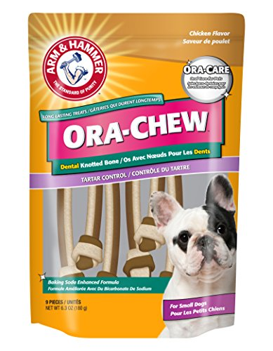 Arm and Hammer FFP5960 Long Lasting Ora Treats Dental Knotted Bone with Tartar Control with Chicken Flavor