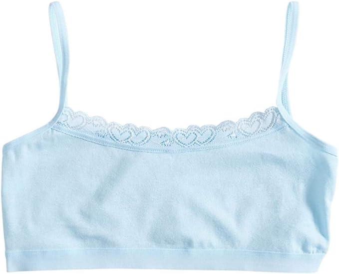 8-14 años Mezcla de algodón para niñas jóvenes Sujetadores de ...