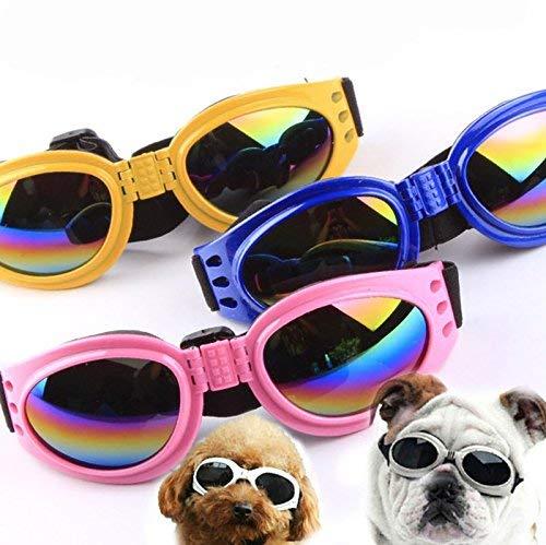Vektenxi Fashion Pet Glasses Foldable Sunglasses Windproof Sun UV Protection Goggles Pet Eyewear Photos Props for Dog Doggie Puppy Cat Black High Quality