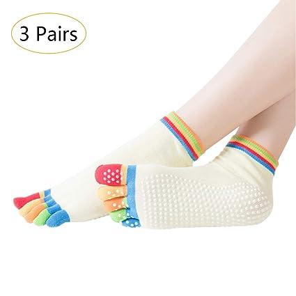 KINDOYO Mujer Calcetines de Cinco Dedos Yoga ...
