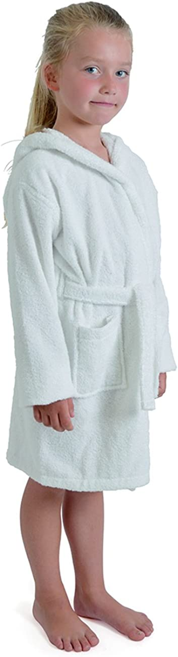 aumsaa enfants filles robe de chambre /à capuche tissu /éponge peignoir 100/% coton tissu /éponge serviette peignoir souple towling v/êtement de d/étente 7-13 ans