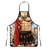 Creative Sexy Aprons for Men Funny Kitchen Cooking Baking Grilling Apron for Novelty Men(Roman Solders)
