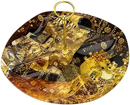 Carmani Bandeja de cristal decorativa de 33 x 33 cm con diseño de ...