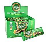 Heavenly Organics Mint Chocolate Honey Patties, (16 Per Box) Made with 100% Organic Cocoa and 100% Organic Raw White Honey; Non-GMO, Fair Trade, Kosher, Dairy & Gluten Free, No Sugar Added