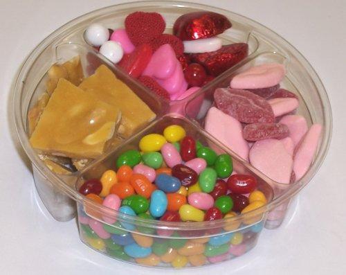Scott's Cakes 4-Pack Smoochie Lips, Valentine Mix, Conversation Beans, & Peanut Brittle