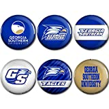 WinCraft Georgia Southern Eagles Official NCAA Metal Button Badge Pin Set 6 Pack 989932