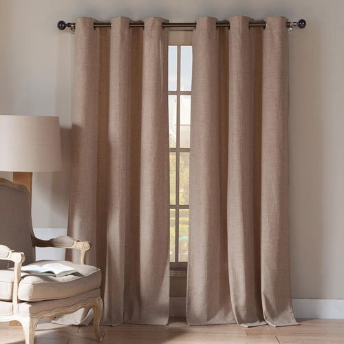 Maison Du Cafe (Home Maison Duck River Textiles KEIGHLEY 10088D=8 Linen & Poly Grommet Pair Panel (2 Piece), 54