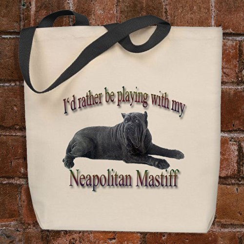I'd Rather Be Playing With My Neapolitan Mastiff - Tote Bag by Strum Hollow