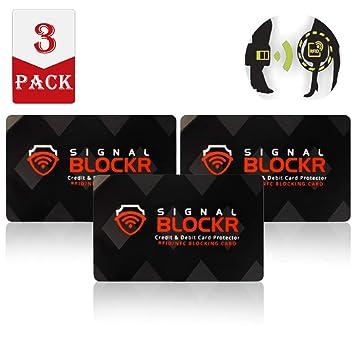 Blizim 3 Piezas Tarjeta Anti RFID NFC Bloqueo Protector de ...
