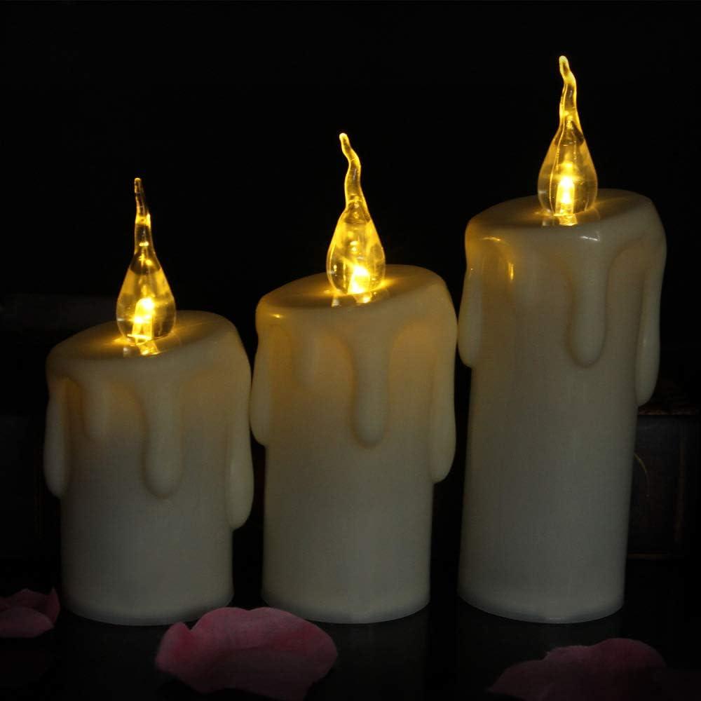 wangZJ Tears vela electrónica/vela de plástico/decoración de boda ...