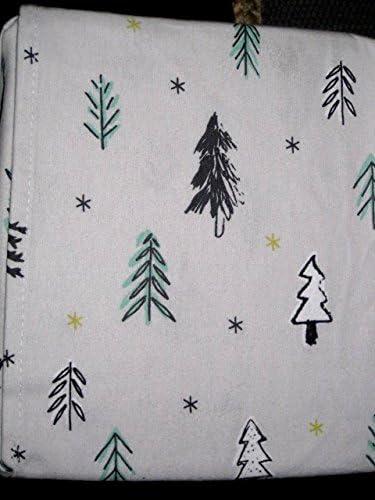 Amazon Com Full Size Cotton Flannel Sheet Set Christmas Trees Pine Trees Home Kitchen
