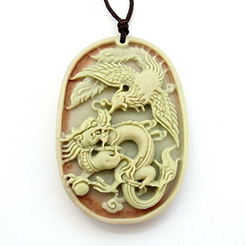 Purple Jade Beautiful Pendant (Green Purple Natural Stone Dragon Phoenix Love Pair Amulet Pendant)