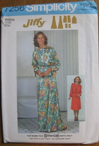 - Simplicity Pattern 7256 Jiffy Misses Skirt, Jacket and Top Size M (12-14)