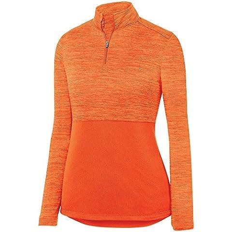 Augusta Sportswear Women's Shadow Tonal Heather 1/4 Zip Pullover S Orange ()