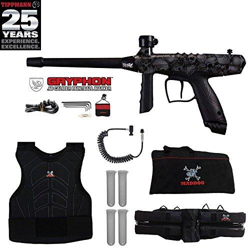 (Tippmann Gryphon FX Sergeant Paintball Gun Package - Skull)