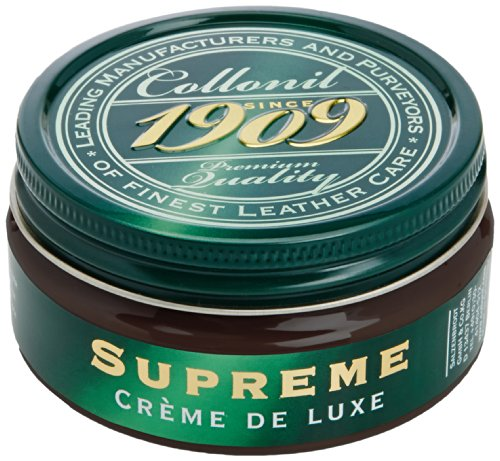 Collonil 1909 Supreme Creme Polish Protects & Revives Variety Of Colours Leather Shoes,Dark Brown,100 ml