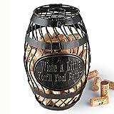Wine Enthusiast 331 10 01 A Little Wine Barrel Cork Catcher, Bronze
