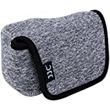 eFonto/JJC Neoprene Mirrorless Compact Camera Case Soft Bag for Sony A5000,A5100,A6000,A6300,A6500+16-50mm (SELP1650) Lens,Olympus E-PL7/6/5+14-42mm II R Lens,Canon G1X Mark III(Small Size,Black Grey)