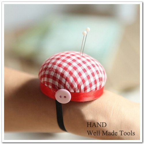Check Wrist Pin Cushion,Tailor, Students 10 Pieces Hilai