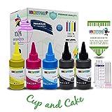 INKUTEN Edible Ink Refill Kit for PGI-280XXL CLI-281XXL - 500 ml Ink Bottles (5-Pack) PIXMA TR7520 TR8520 TS6120 TS6220 TS8120 TS8220 TS9120 TS9520 TS9521C