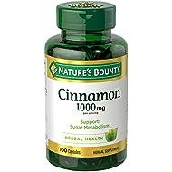Nature's Bounty Cinnamon 1000 mg, 100 Capsules (Pack of 3)