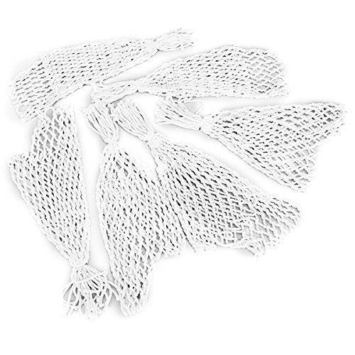 Tykusm set di 6 tavolo da biliardo Heavy nylon Nets tasche reti Bags (bianco)