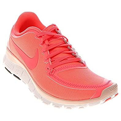Nike Wmns Nike Free 5.0 V4 Hot Punch Pink 2012 Womens Running Shoes 511281-606 [US size 9.5]
