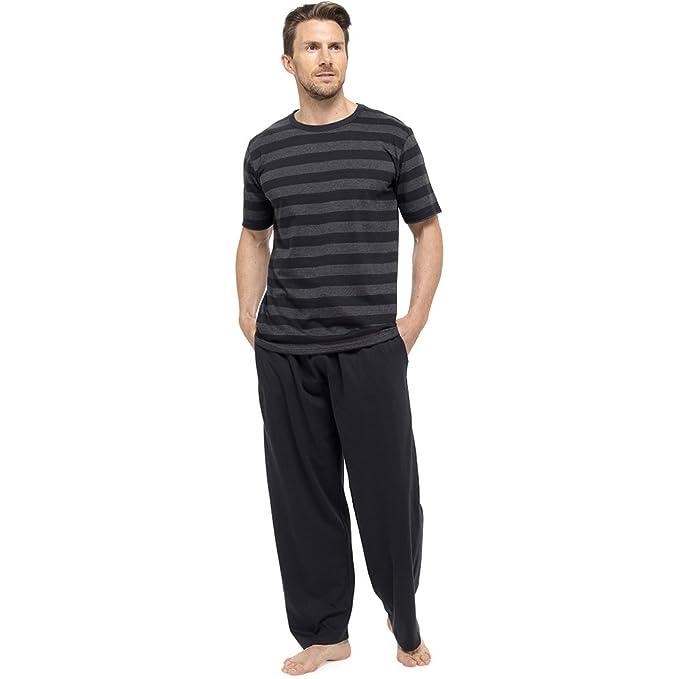 comprare on line 4fb4d 2f9aa Pigiama completo, Da uomo, Con maglietta a maniche corte e pantaloni  lunghi, Per l'estate, HT332C
