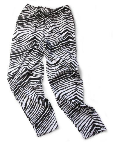 Zubaz Pants: Large Black/White Zubaz Zebra Pants