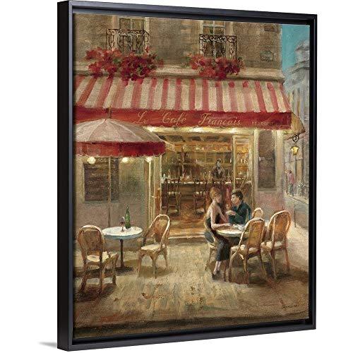 - Paris Cafe II Black Floating Frame Canvas Art, 26