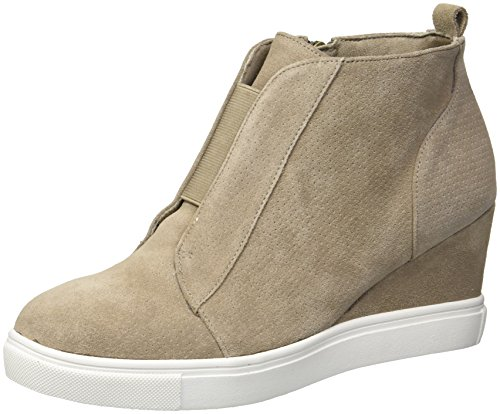 Blondo Women's Gatsby Waterproof Sneaker, Mushroom Suede, 8 M US