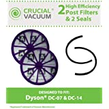 2 Dyson DC07, DC14, DC15 Post-Motor HEPA Filters + Seals, Replaces Dyson Vacuum Part # 901420-02, Designed & Engineered by Think Crucial