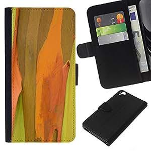 Planetar® Modelo colorido cuero carpeta tirón caso cubierta piel Holster Funda protección Para HTC Desire 820 ( Plant Nature Forrest Flower 50 )