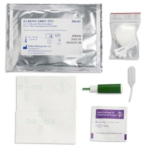 3 Pack Eldoncard Blood Type Test (Complete Kit) - air sealed envelope, safety lancet, micropipette, cleansing swab (A Rh D Negative Blood Type Diet)