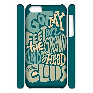 3D IPhone 5C Cases Cheap Typography Head In The Cloud, Funny Saying Iphone 5c Case For Men Cheap [White]