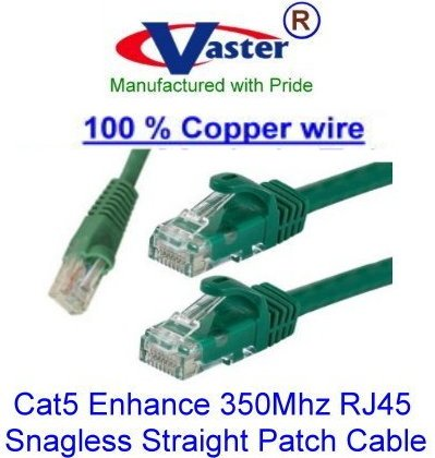 10 Pcs//Pack Ethernet Network Patch Cable 10 Ft UTP Cat5e Green Color SuperEcable SKU-20673, UL 24Awg 100/% Copper