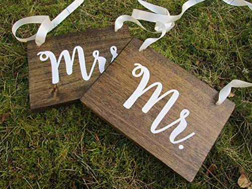 Mr and mrs Sweetheart Table Signs, Wood Wedding Signs, Hanging Signs, Chair Signs, Wedding Decor, Rustic Wood Signs, Bride and Groom, Gift -